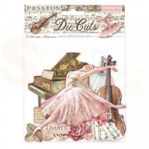 Stamperia die cuts, Passion DFLDC31
