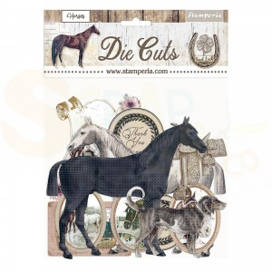 Stamperia die cuts, Romantic Horses DFLDC40