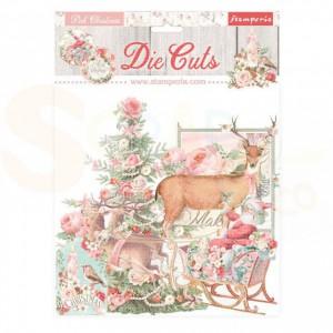 Stamperia die cuts, Pink Christmas DFLDC45