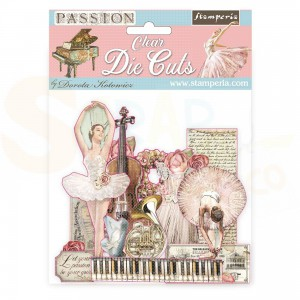 Stamperia Clear die cuts, Passion DFLDCP04