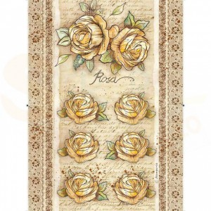 Stamperia rice paper A4, Rose DFSA4380