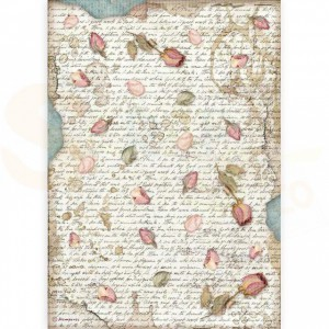 Stamperia rice paper A4, Passion Petals DFSA4540