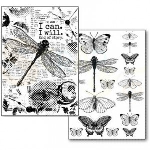 Stamperia Transfer Paper A4, Dragonfly DFTR063