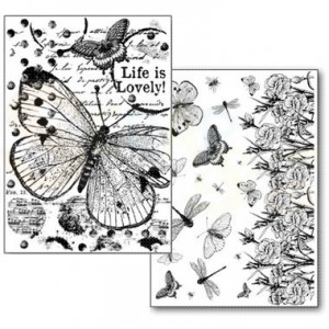 Stamperia Transfer Paper A4, Butterflies DFTR064