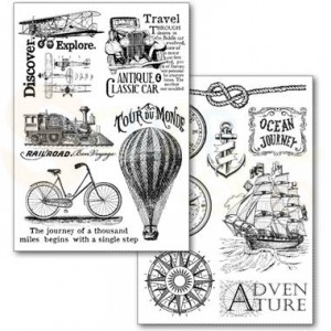 Stamperia Transfer Paper A4, Around the world DFTR074