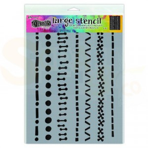 Ranger, Dylusions stencils, A stitch in time - large DYS71471