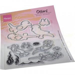EC0191, clearstamp + dies Marianne Design, Eline's animals - Otters