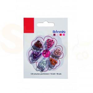 Brads mini, Artemio 11006069, gesorteerd rood