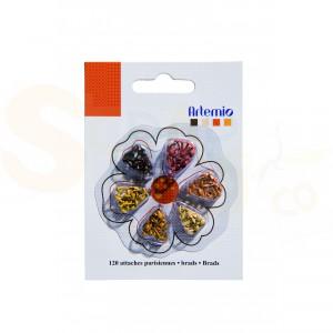 Brads mini, Artemio 11006072, gesorteerd naturel