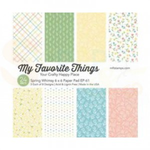EP-61, My Favorite Things Paper pack 6x6 inch, Spring Whimsy