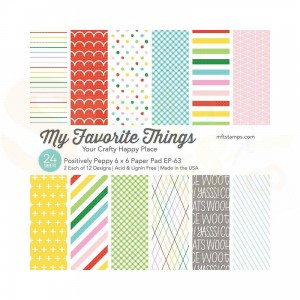 EP-63, My Favorite Things Paper pack 6x6 inch, Positively Peppy