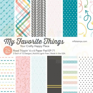 EP-71, My Favorite Things Paper pack 6x6 inch, Road Trippin'