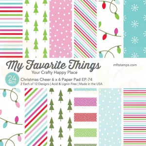 EP-74, My Favorite Things Paper pack 6x6 inch, Christmas Cheer