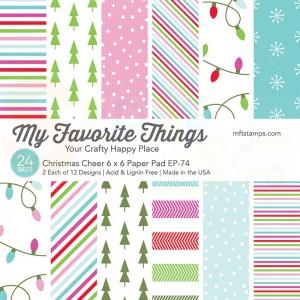 EP-74, My Favorite Things Paper pack 6x6 inch, Christmas Cheer