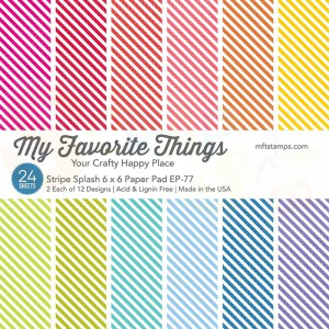 EP-77, My Favorite Things Paper pack 6x6 inch, Stripe splash