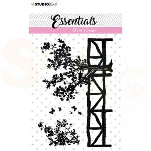 StudioLight, clearstamp Fence/trees Essentials nr. 25 SL-ES-STAMP25