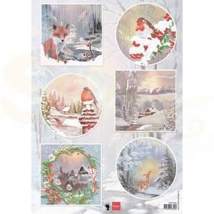 EWK1286, Marianne Design, decoupage vel Winter wishes - Vos