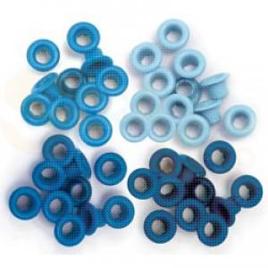 Eyelets standard, blue