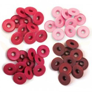 Eyelets wide, red