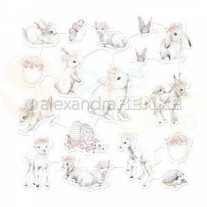 Alexandra Renke, Art-figurine FG-AR-Os0001-M Rabbits and Sheeps