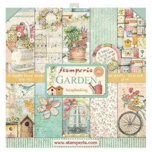 SBBL43 paperpad 12x12 inch Stamperia, Garden