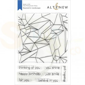 Altenew, Geometric Landscape Stamp set ALT3211