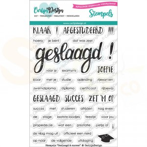 Carlijn Design, clearstamp CDST-0028, Geslaagd & Succes