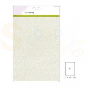 Glitterpapier CraftEmotions, 5 vel - champagne 001290/0158