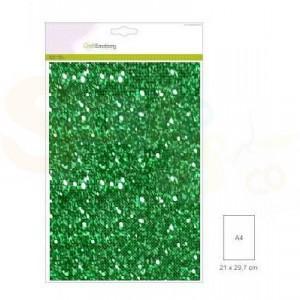 Glitterpapier CraftEmotions, 5 vel - kerstgroen 001290/0105
