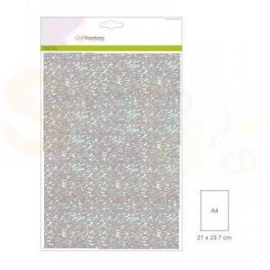 Glitterpapier CraftEmotions, 5 vel - babyblauw 001290/0110