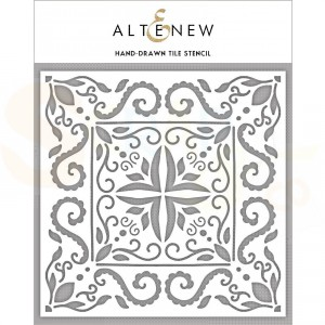 Altenew, Stencil, Hand-Drawn Tile
