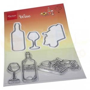 HT1665, stamp & Die Marianne Design, Hetty's Wijn