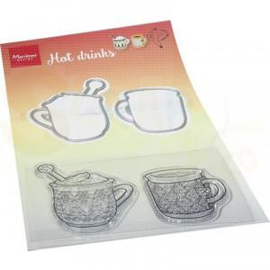 HT1666, stamp & Die Marianne Design, Hetty's Warme dranken
