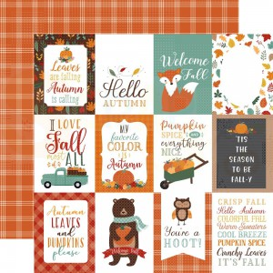 Echo Park Paper, Happy Fall HAP219 3, Journaling cards 3x4