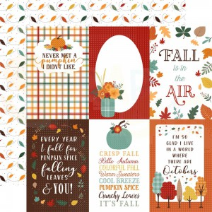 Echo Park Paper, Happy Fall HAP219 8, Journaling cards 4x6