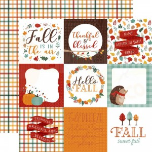 Echo Park Paper, Happy Fall HAP219 5, Journaling cards 4x4