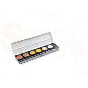 Fine-Tec verftablet metallic kleuren in blik, 6 stuks, K-F0600