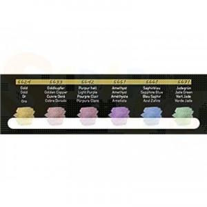 Fine-Tec verftablet in blik met 6 iriserende kleuren F5600