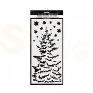 Stamperia, stencil 12x25 cm, Christmas Tree KSTDL36