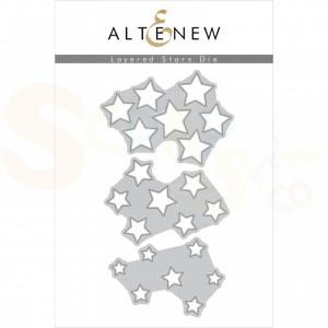 Altenew, die set, Layered Stars ALT3361