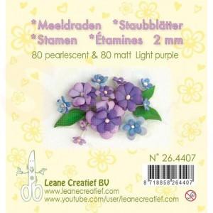 26.4407 Meeldraden LeCrea, pearlescent & matt light purple