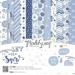 Elizabeth Craft Designs, paperpack 6x6 LISPP6, Let it snow