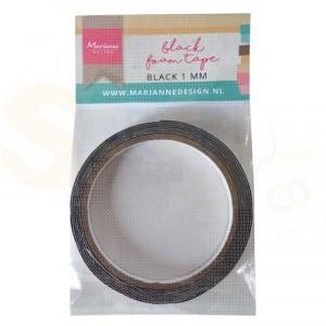 LR0026, Marianne Design, Foam tape Zwart 1 mm