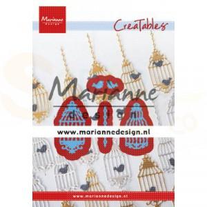LR0640, creatable Marianne Design, Vogelkooi (set)