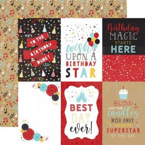 Echo Park Paper, Magical Birthday Boy MBB23212, 4x6 journaling cards