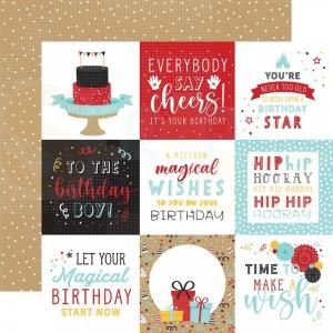 Echo Park Paper, Magical Birthday Boy MBB2327, 4x4 journaling cards