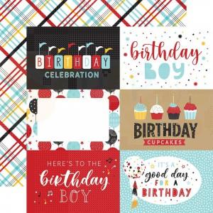 Echo Park Paper, Magical Birthday Boy MBB2329, 6x4 journaling cards