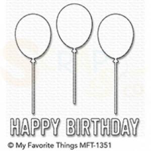 MFT-1351 My Favorite Things Die-namics, Happy Birthday Balloon Trio