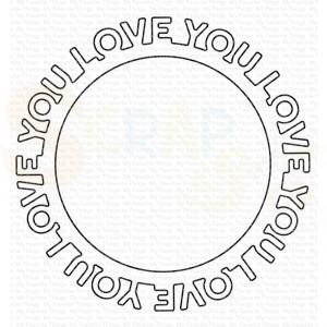 MFT-1661 My Favorite Things Dienamics, Love you Circle Frame