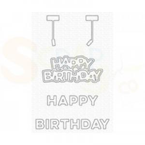 MFT-2052 My Favorite Things Dienamics, Hanging Happy Birthday